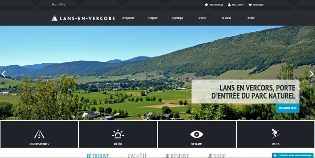 Site internet Office de Tourisme de Lans en Vercors